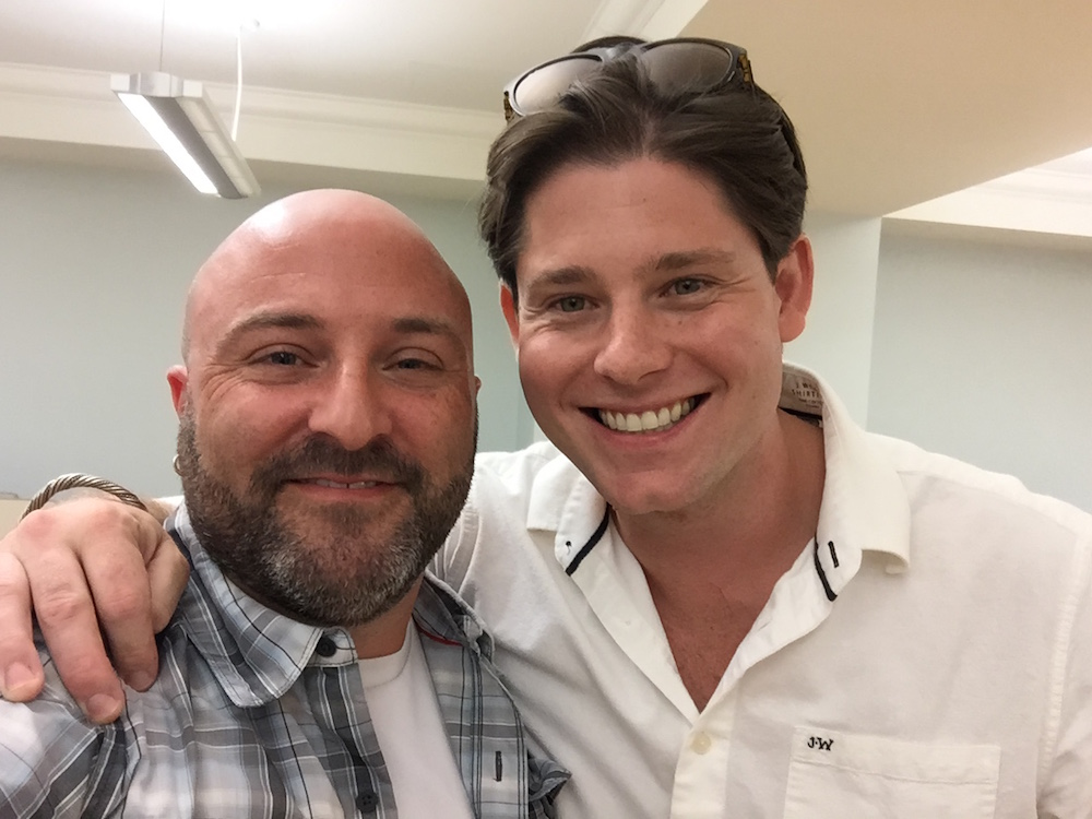 Chef and restauranteur Alex McCoy poses for a selfie with Drew. August 31, 2015.