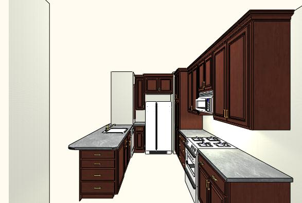 A sketch of a kitchen renovation in Petworth