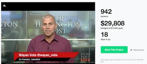 JadedAid's Kickstarter campaign has raised just under $30K on a $12K goal.