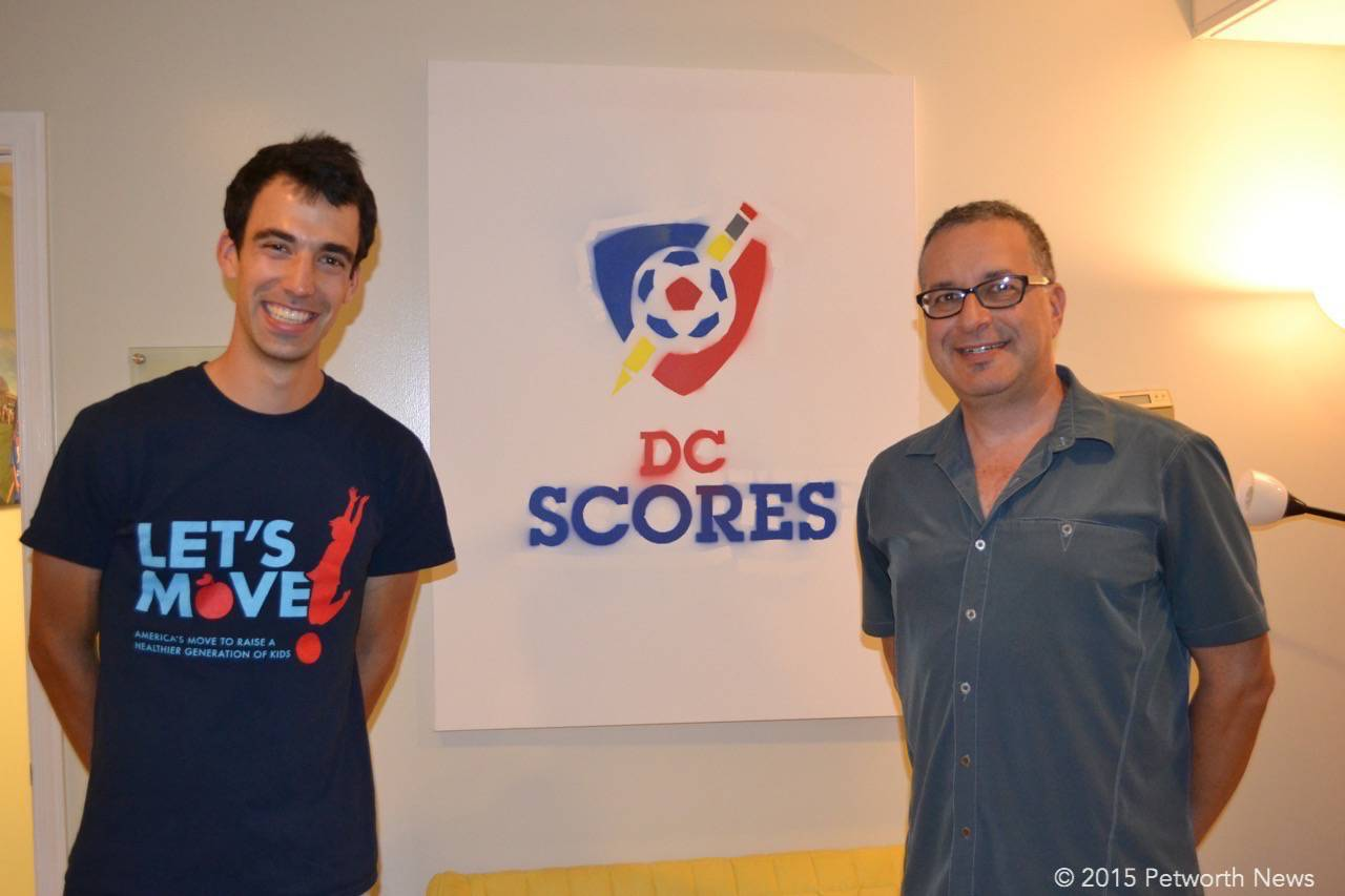 DC SCORES Communications Manager Jake Lloyd and David Sheon