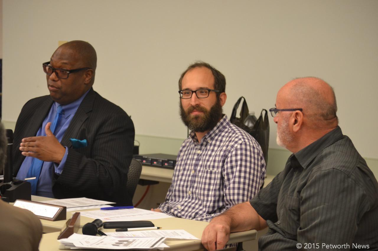 Vice Chair Zach Teutsch (Galloway on the left, Commissioner Joe Martin on the right)