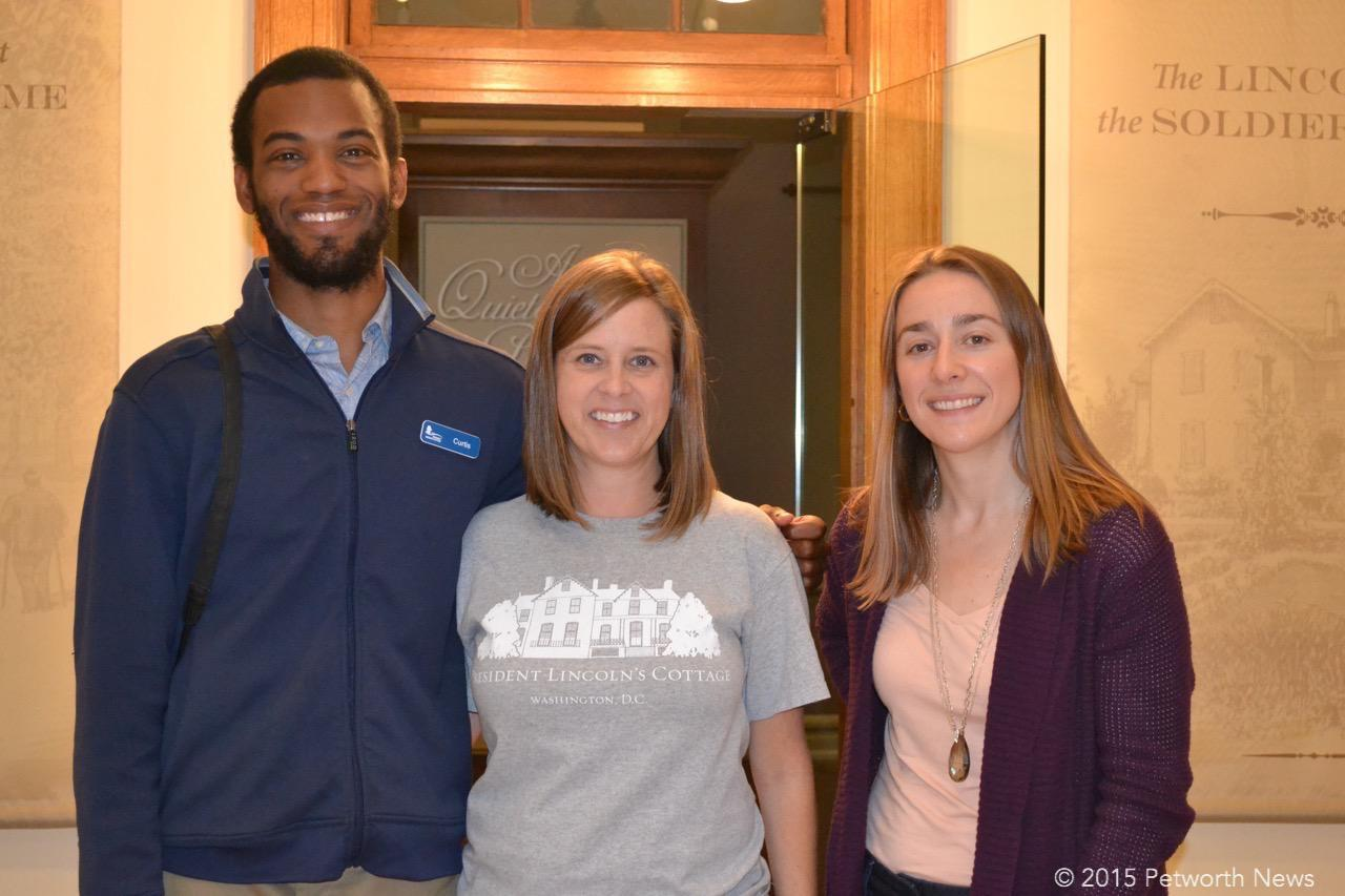 Curtis Harris, Callie Hawkins and Erin Mast from Lincoln's Cottage
