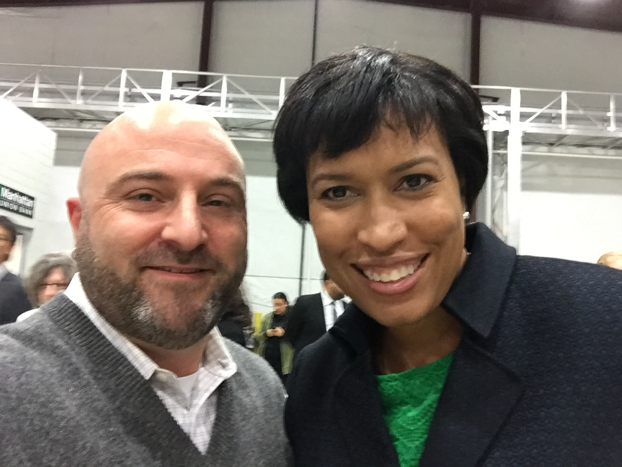 DC Mayor Muriel Bowser poses for a selfie with Drew at the MPD Community Engagement Academy. December 2, 2015