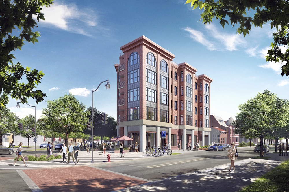 A rendering showing a different view of the proposed building. (photo: PGN Architects)