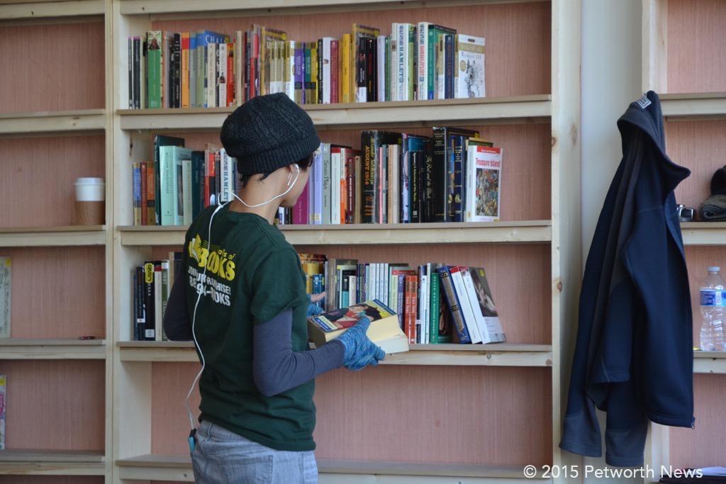 Shelving, the joyful habit of all bookstore employees.