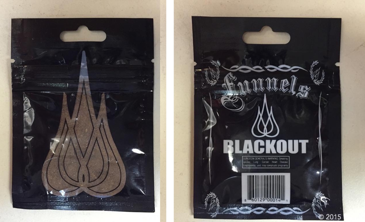 Blackout by Funnels, the package taken by Tax & Revenue and assumed to be synthetic drugs.