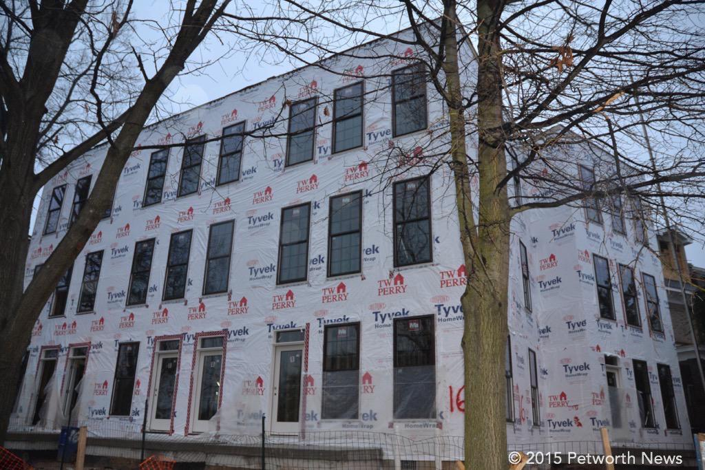 16 Grant Circle, which was a single-family detached home, torn down to build 6 units.