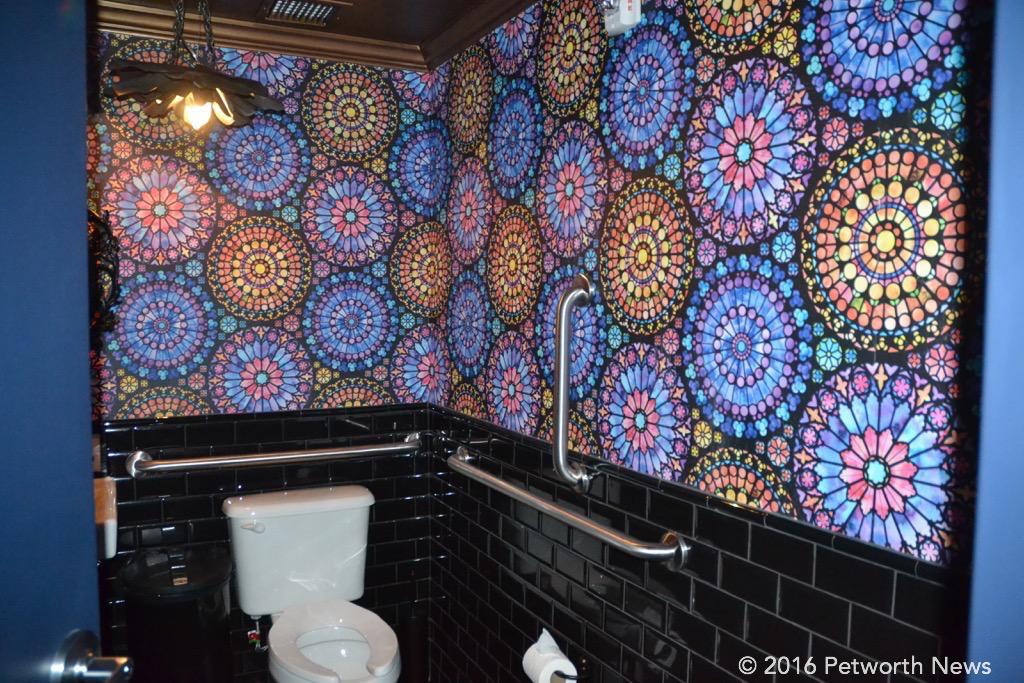 I know, it's just a bathroom, but it sure looks cool in there.