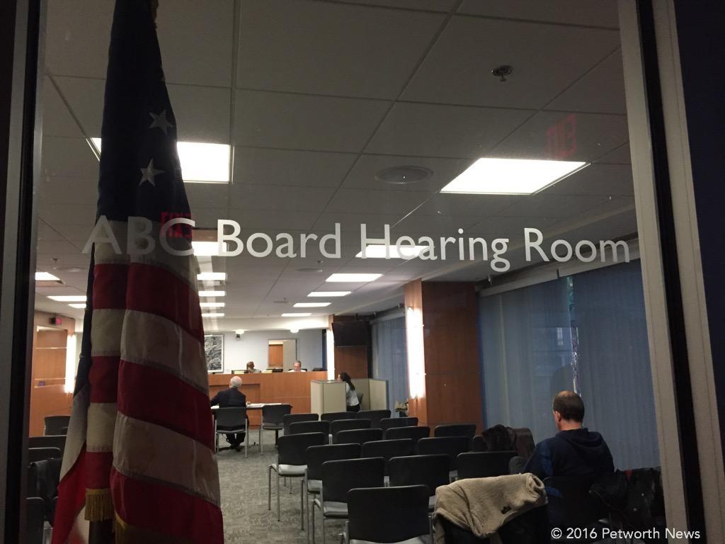 Protest hearings take place at the Reeves building, 2000 14th Street NW, under the auspices of the Alcohol Beverage Control Board.