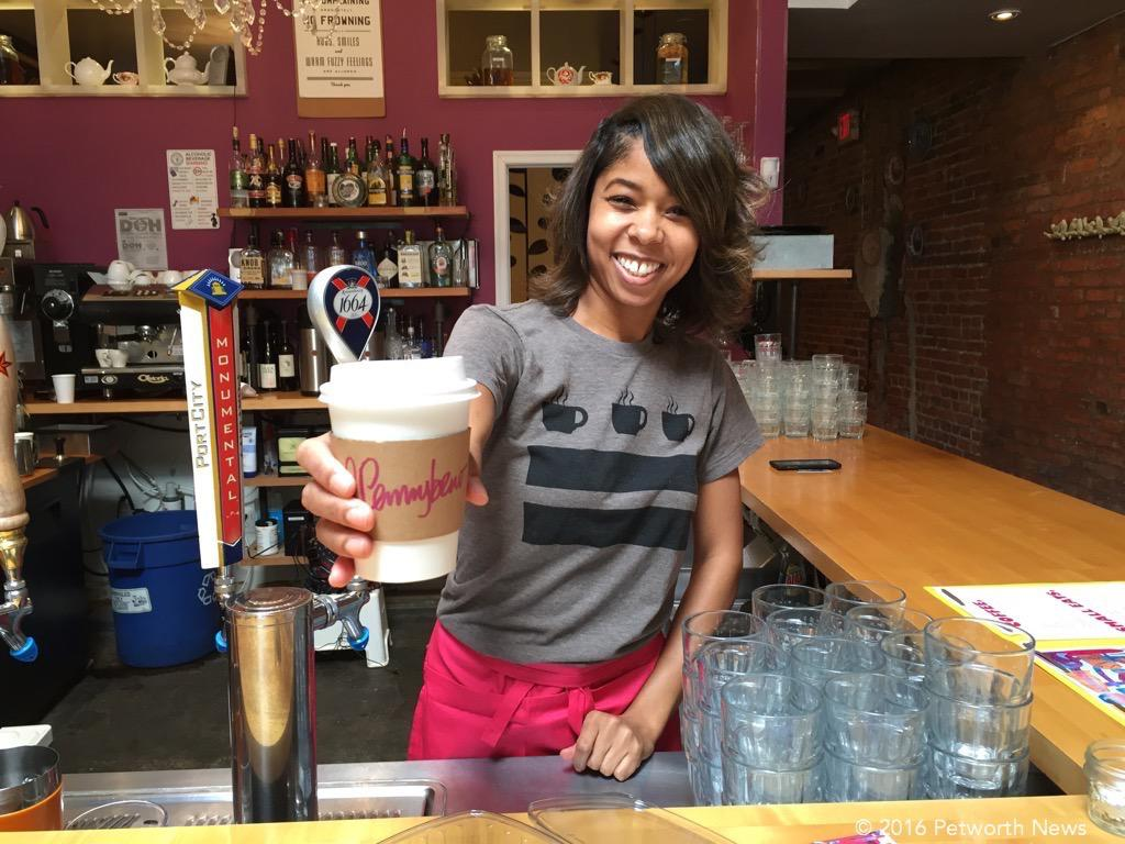 Rachel Pace serves up hot coffee at Penny Brew.