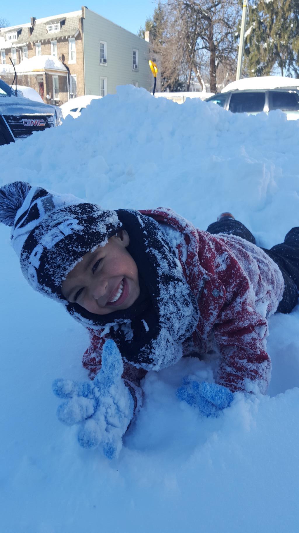RJ in the snow ( Photo: Ryan DaSilva)