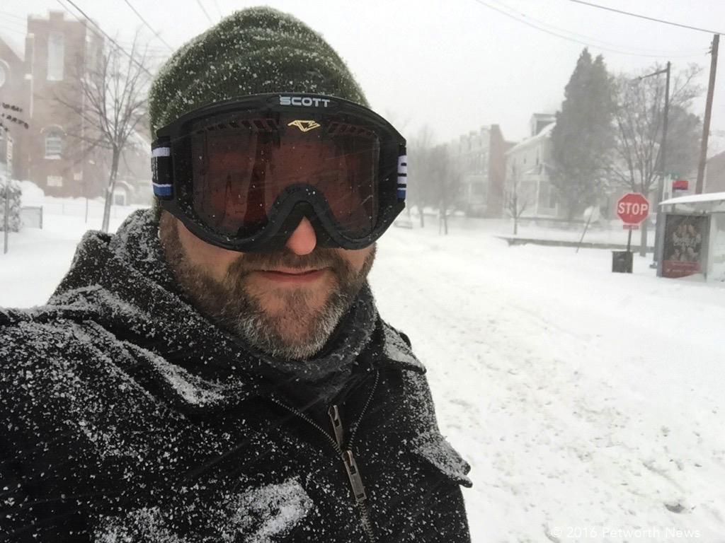 Your intrepid blogger, out in the Blizzard on Saturday.