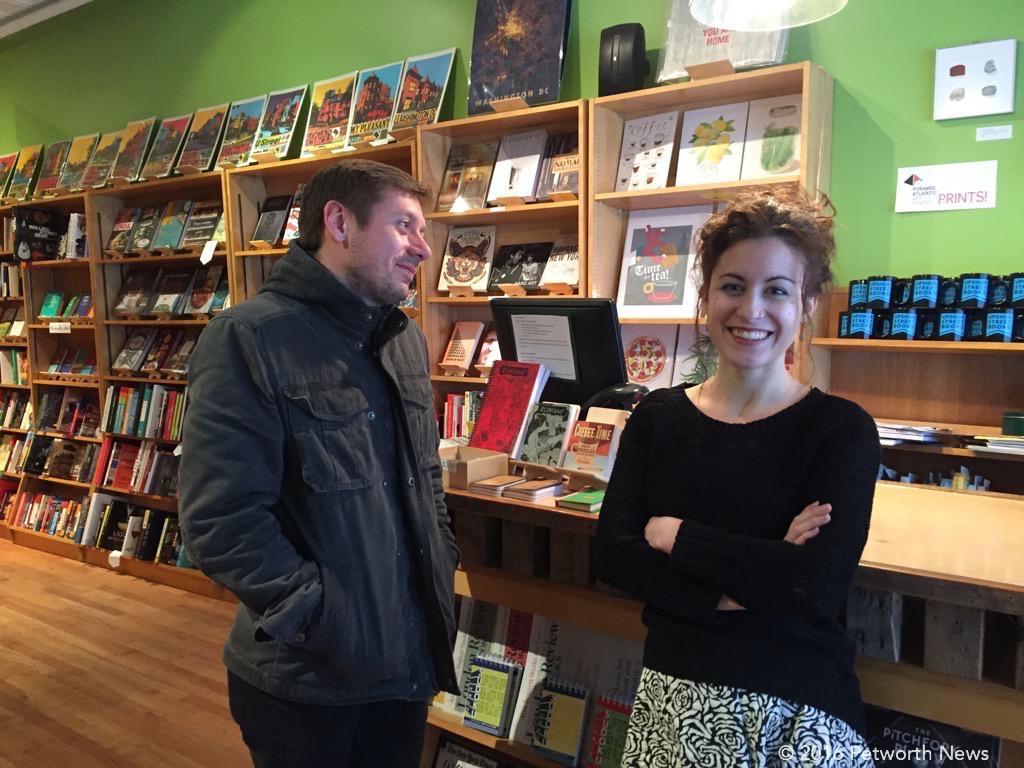 At Upshur Street Books, some were happy about a blizzard, some weren't.