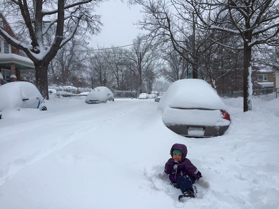 Playing in the snow  (photo: Lucan Pipkin)