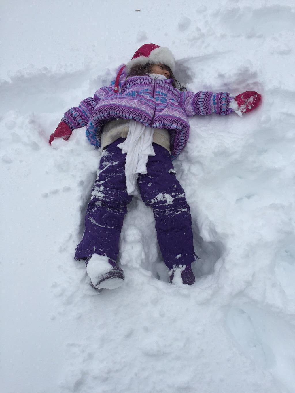 Snow Angel! (photo: Amy Thomas)
