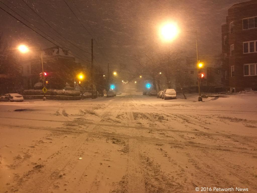 New Hampshire Ave & Upshur St, during the blizzard.