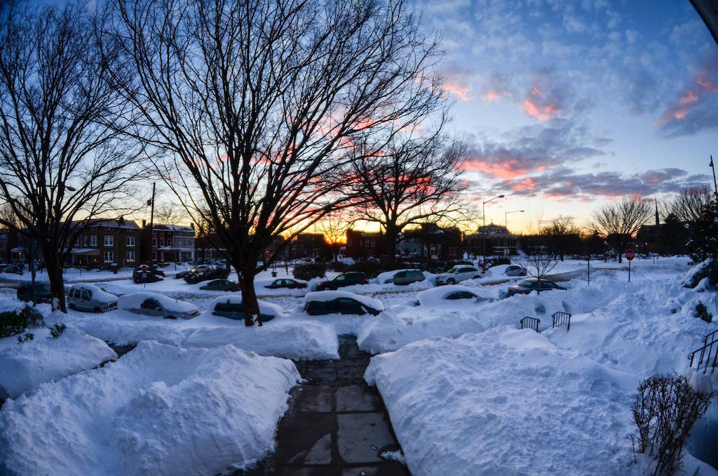 End of the day in Petworth...  (photo:Christopher Schwalm)