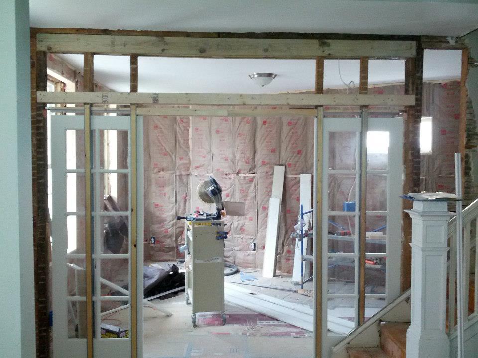 Installing sliding doors in the living room