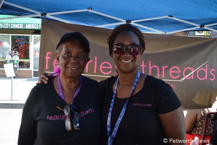 Fearless Threads at their vendor table at the 2015 Celebrate Petworth Festival