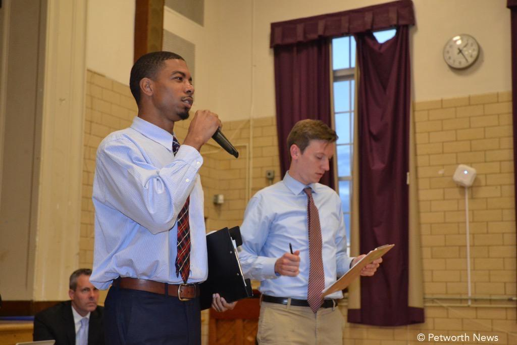 Jordan Bailey and Connor Weber from Councilmember Todd's office