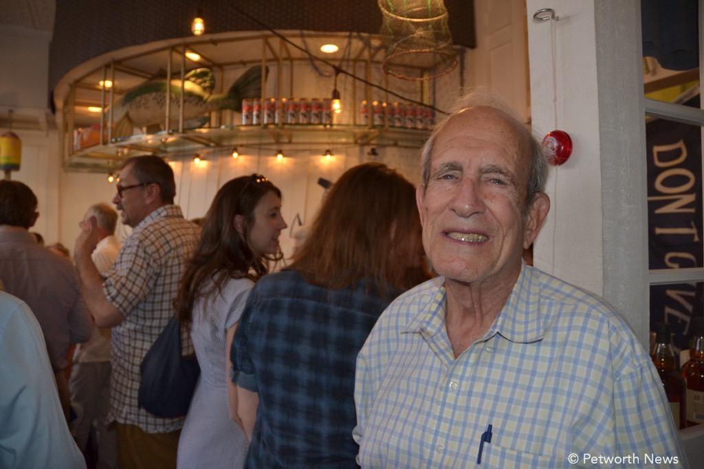 Cappy, enjoying the launch party,