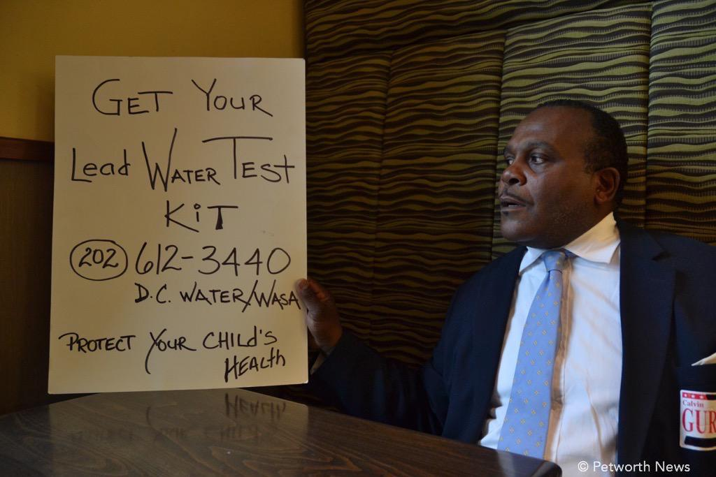 Mr. Gurley is passionate on the topic of residents getting their water tested for lead.