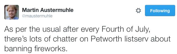 WAMU reporter Martin Austermuhle, via  Twitter