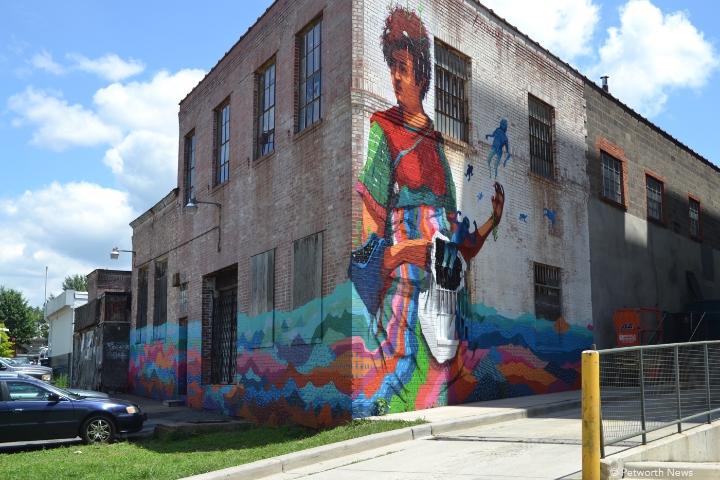 An old building becomes the canvas for mother earth