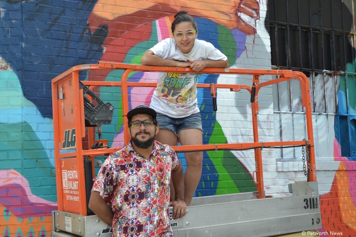 Artists Robezio Marqs and Tereza Dequinta