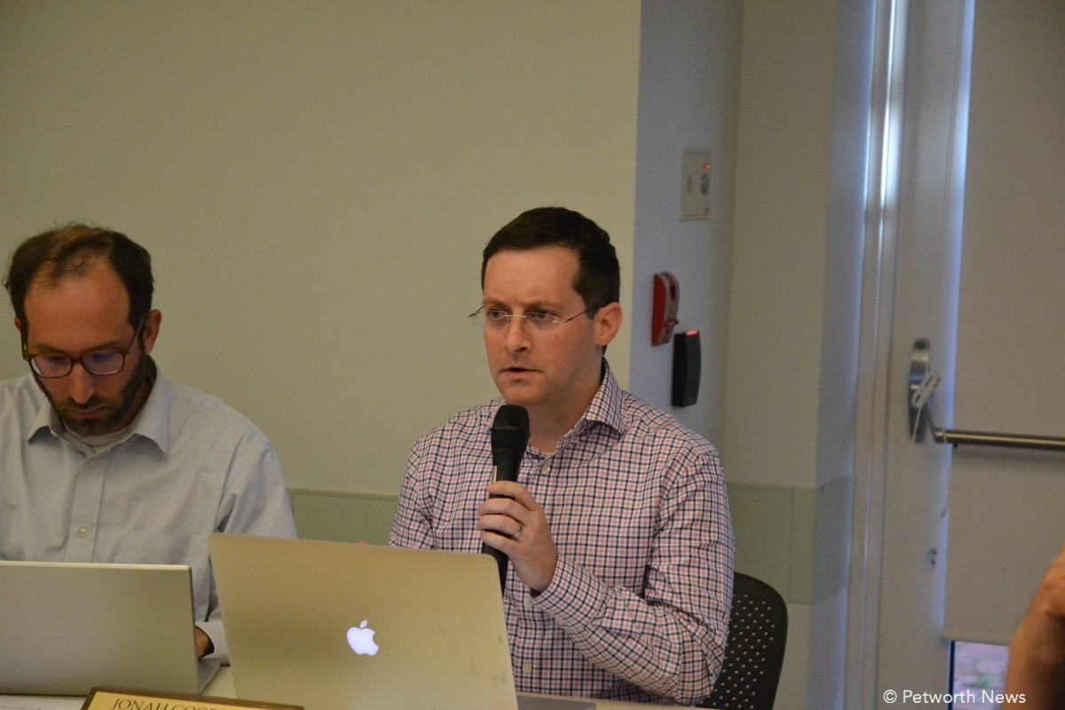 Jonah speaking at a recent ANC 4C meeting