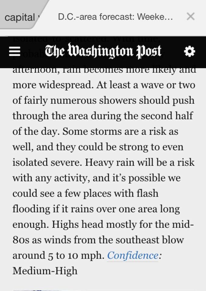 Capital Weather Gang  (Washington Post)