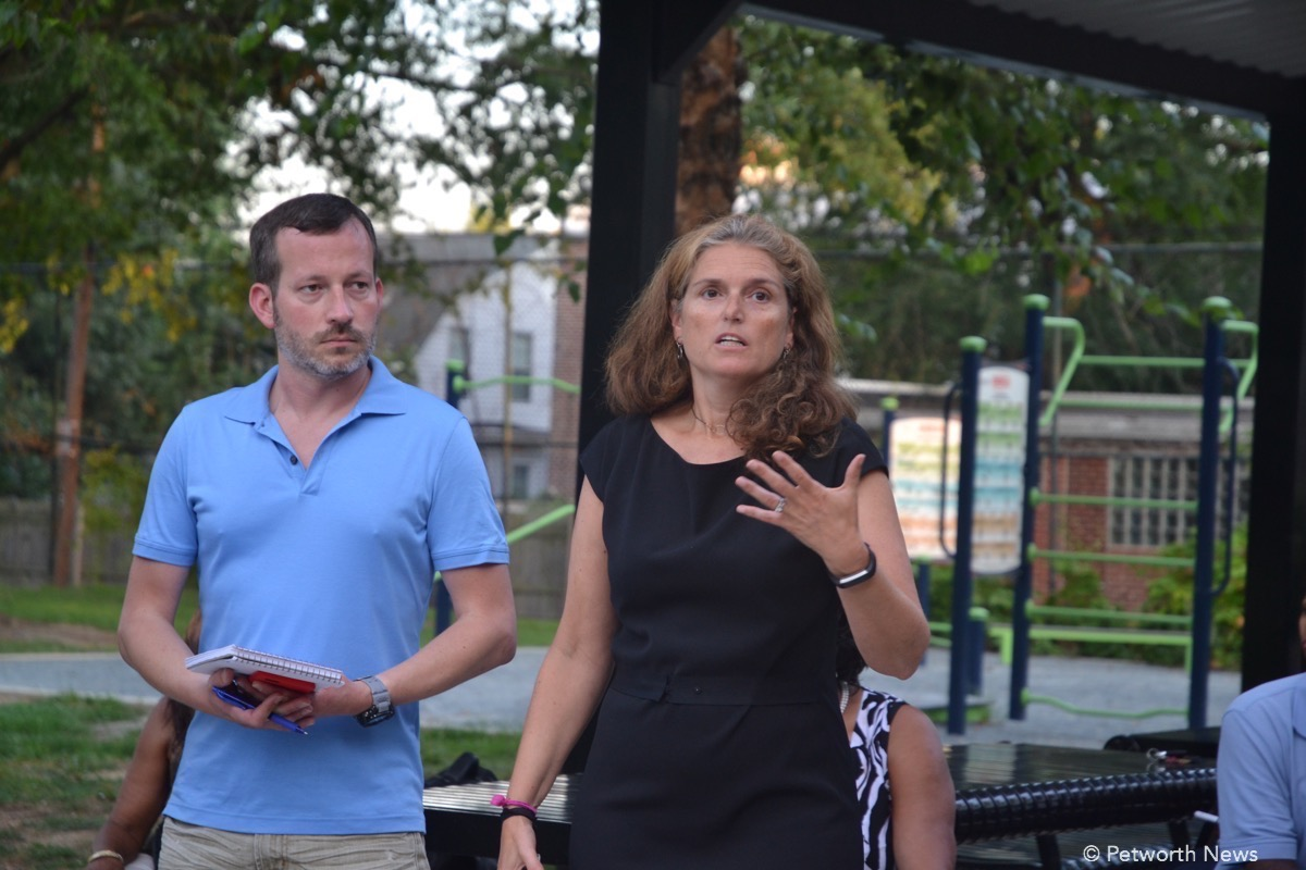 Sean Wieland and Commissioner Maria Barry