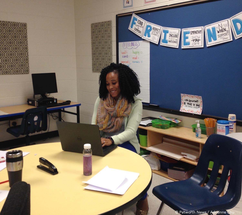 School social worker  Keri Sartin