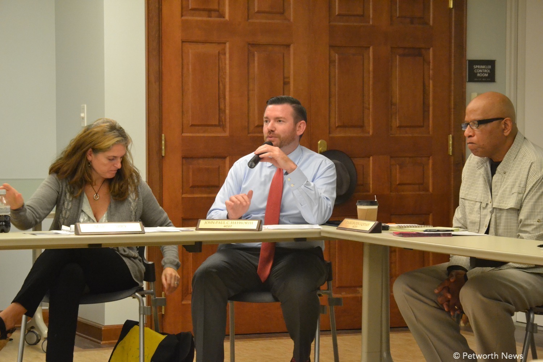 Commissioners Maria Barry, John-Paul Hayworth and Taalib-Din Uqdah