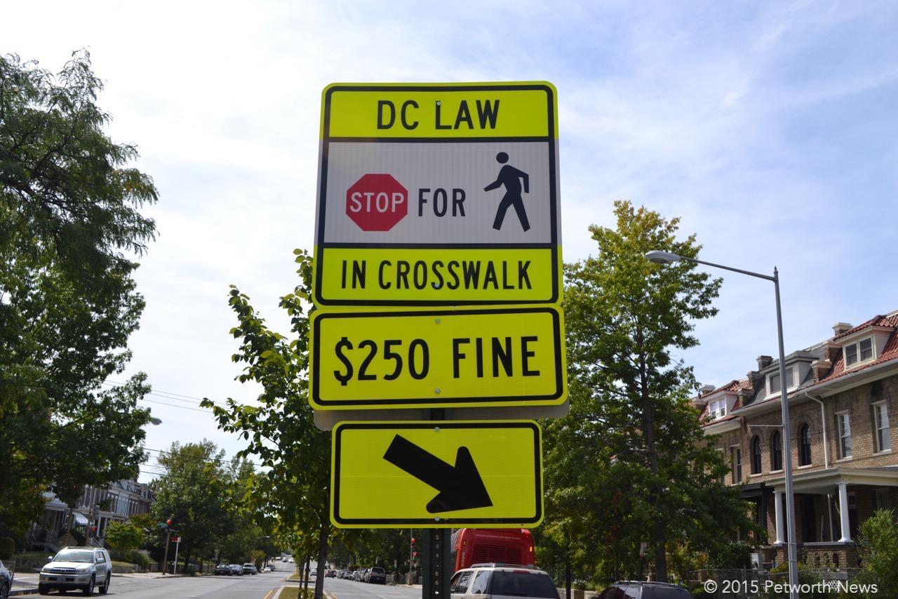 A useless sign at Grant Circle