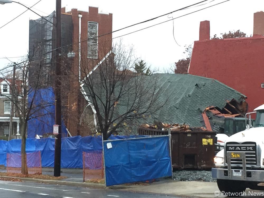 Demolition of the Rock Creek Church at 8th & Upshur St NW