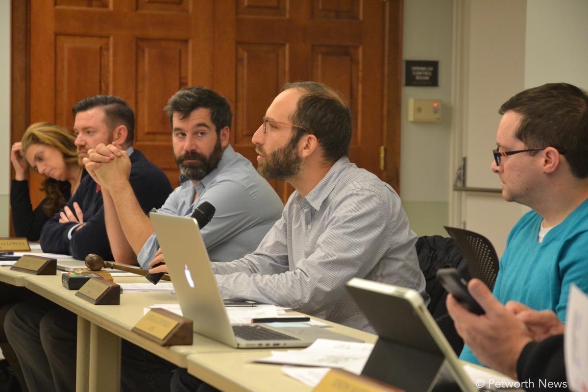 Commissioners Maria Barry, John-Paul Hayworth, Michael Halpern, Zach Teutsch and Jonah Goodman