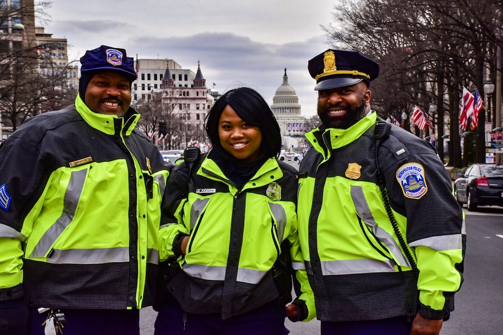 Sgt. William Kelly  -  Officer Alicia Mease  -  Lt. Anthony Washington   (photo courtesy MPD Lt. Washington)