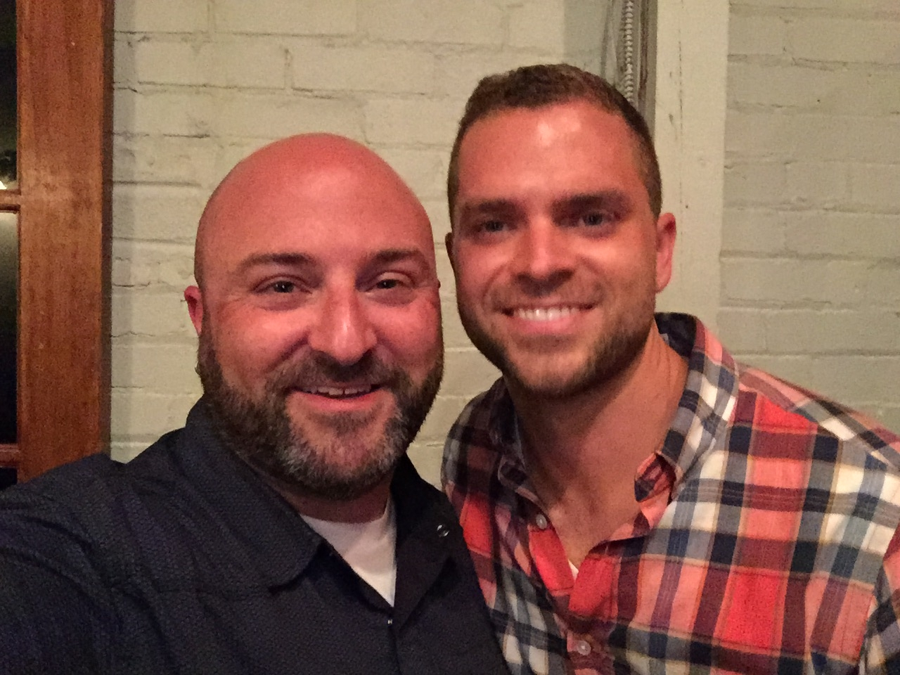 David Garber poses for a selfie with Drew at the Petworth News Shindig, June 29, 2015
