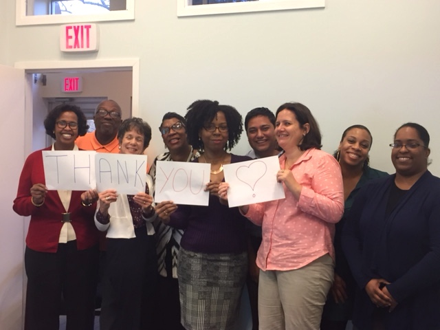 Thanks from the staff of the Georgia Avenue Family Support Collaborative