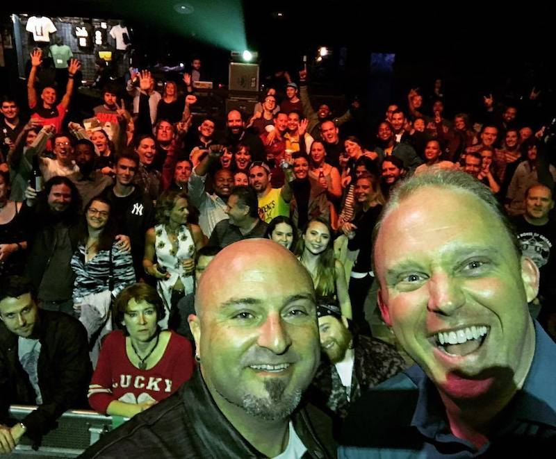 Brian Nelson-Palmer, host of DC Music Rocks podcast & radio, poses with Drew & a few hundred close friends at the DC Music Rocks Festival at the 9:30 Club (Sept 2, 2017)