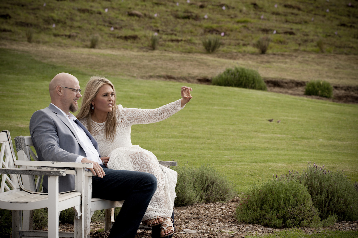 Petworth residents Staci Maiers and Christopher Woods at Ali'i Kula Lavender in Kula, Hawaii. (photo:Kimberly Bloede Photography)
