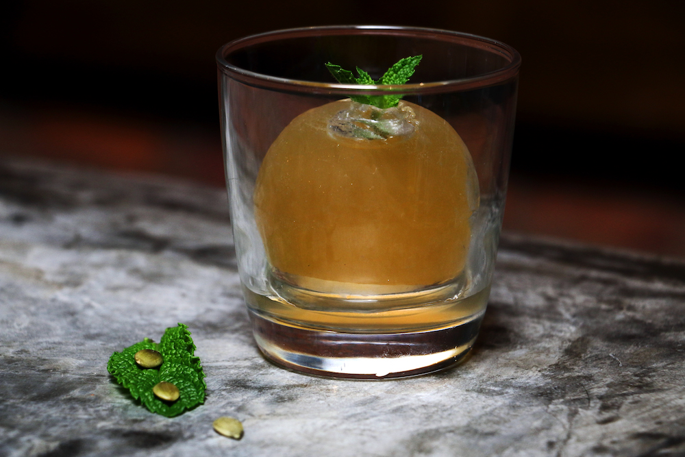 """""""Smashing Pumpkins"""" cocktail adds Fall flair to your cocktail experience. (photo:Jai Williams)"""