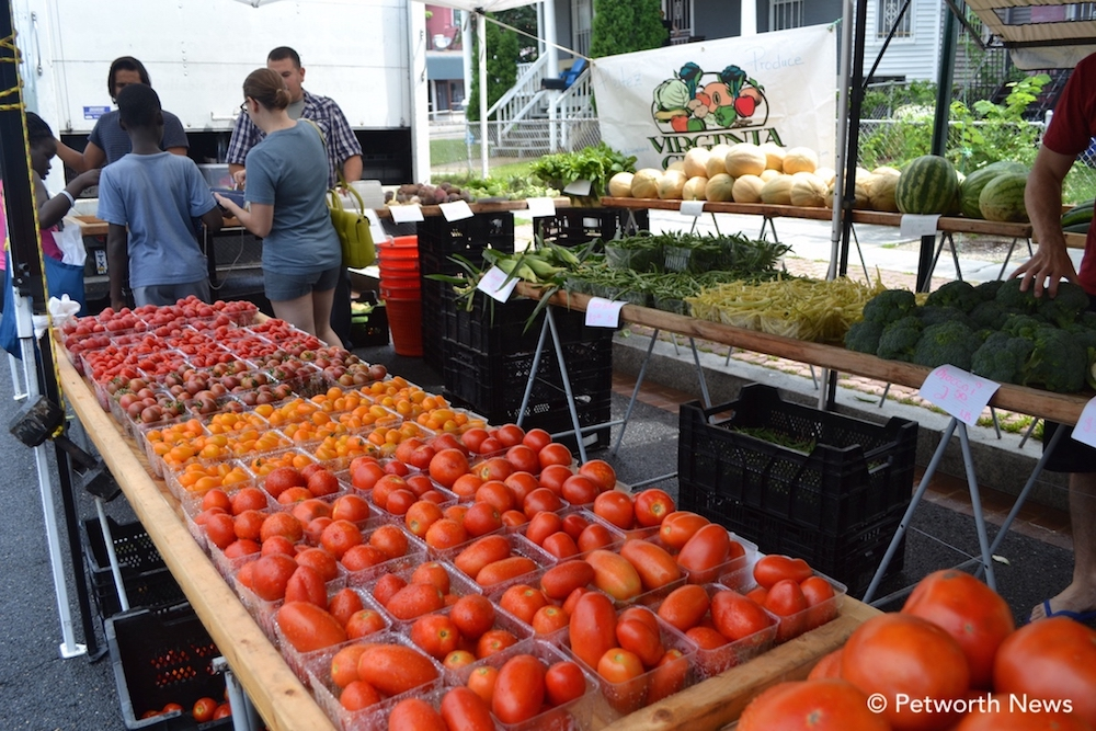 Residents shop at the Petworth Community Market