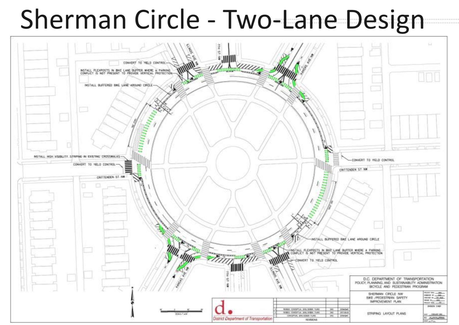 Schematic  of the changes (courtesy DDOT)