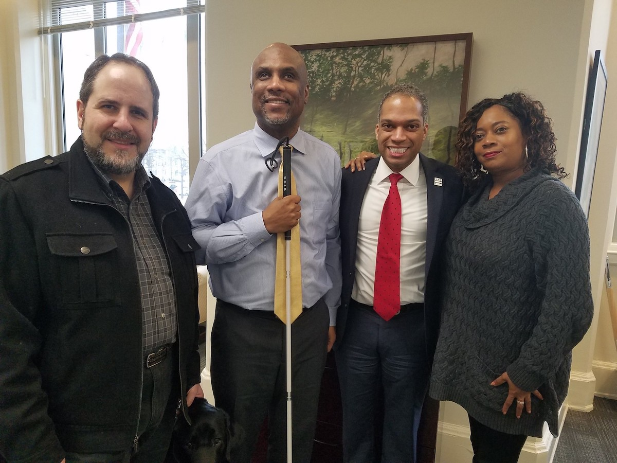 My meeting with  Shawn Calloway  and  Libra Robinson , advocates for people with disabilities who helped design the Blind Students Literacy and Education Rights Act of 2018.
