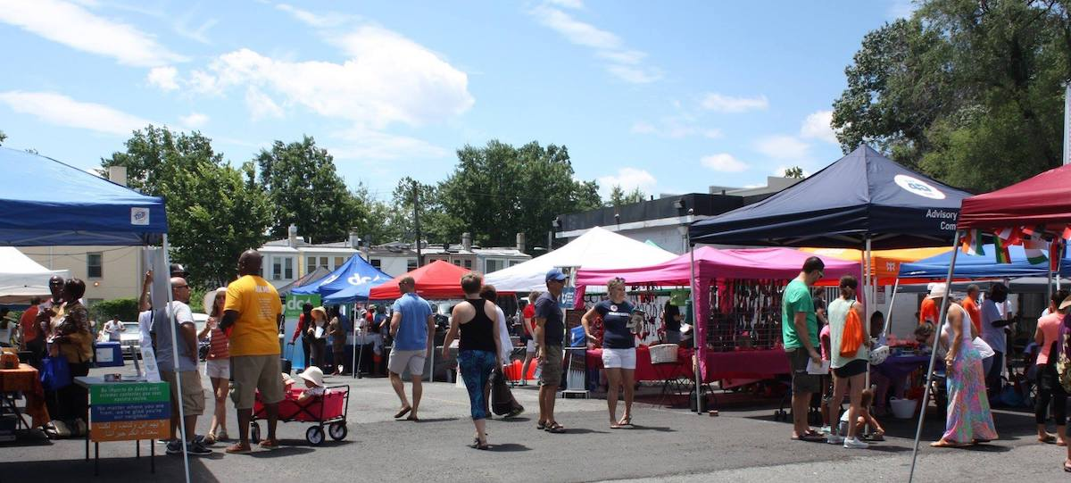 Vendors at the 2017 Kennedy Street Festival