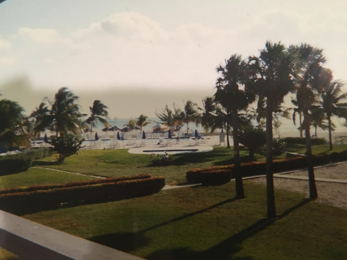 Enjoying Aretha in the Bahamas