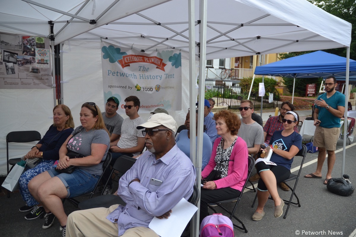 Festival attendees at the Petworth History Tent