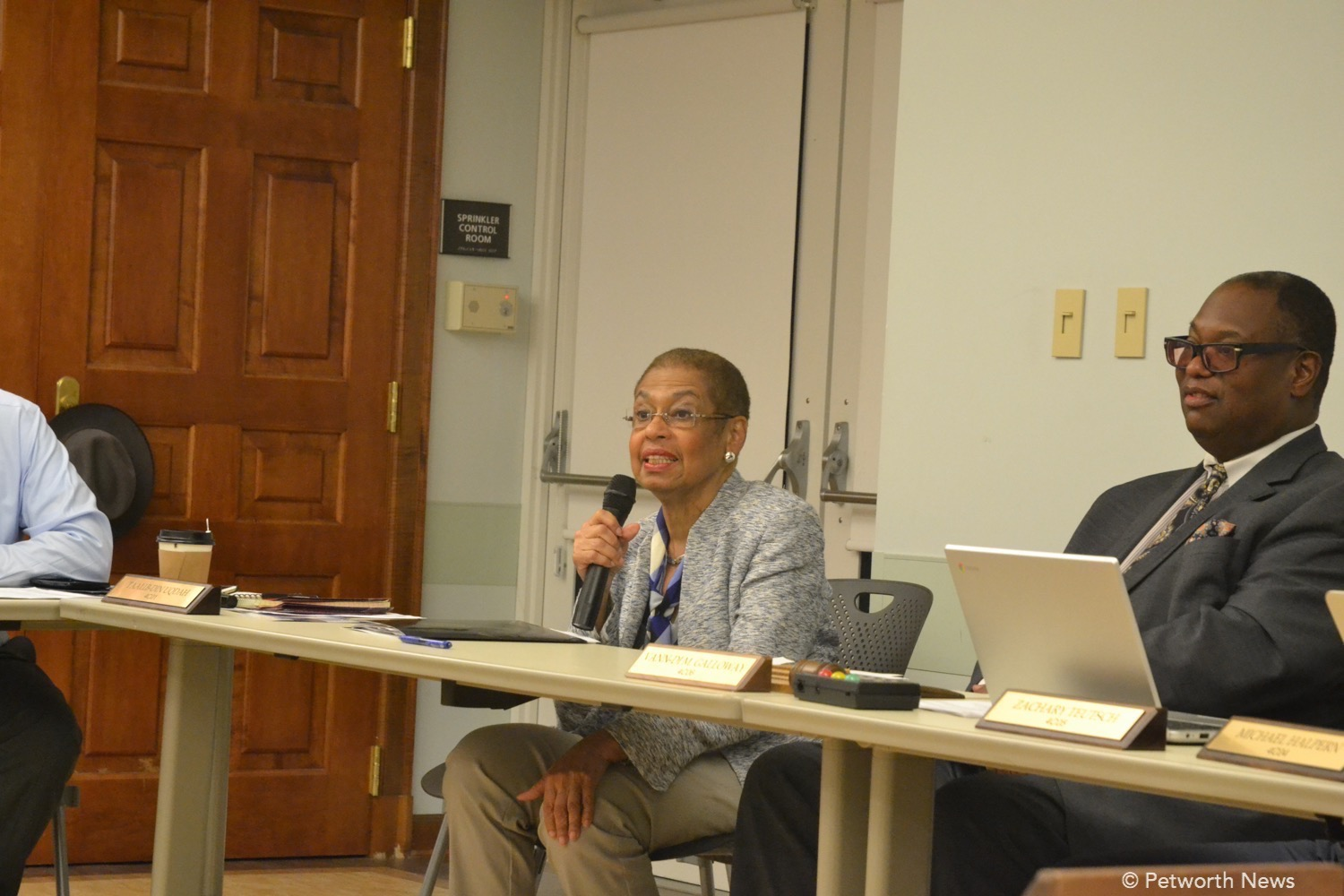 Delegate Eleanor Holmes Norton speaking at ANC 4C in October 2016